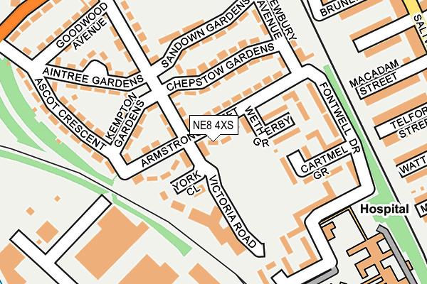 NE8 4XS map - OS OpenMap – Local (Ordnance Survey)