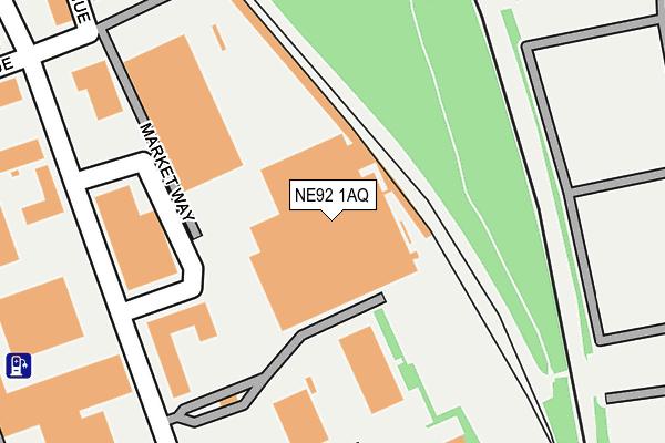 NE92 1AQ map - OS OpenMap – Local (Ordnance Survey)