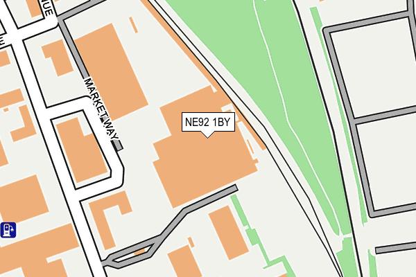 NE92 1BY map - OS OpenMap – Local (Ordnance Survey)