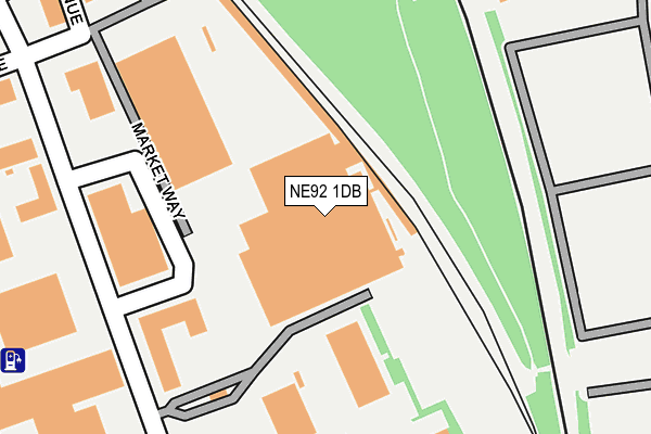 NE92 1DB map - OS OpenMap – Local (Ordnance Survey)
