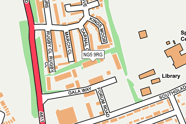 NG5 9RG maps, stats, and open data