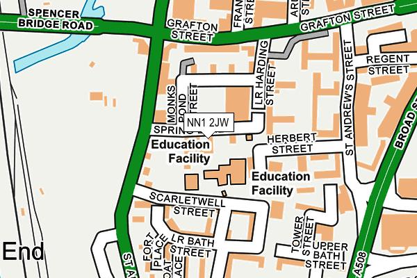 NN1 2JW map - OS OpenMap – Local (Ordnance Survey)