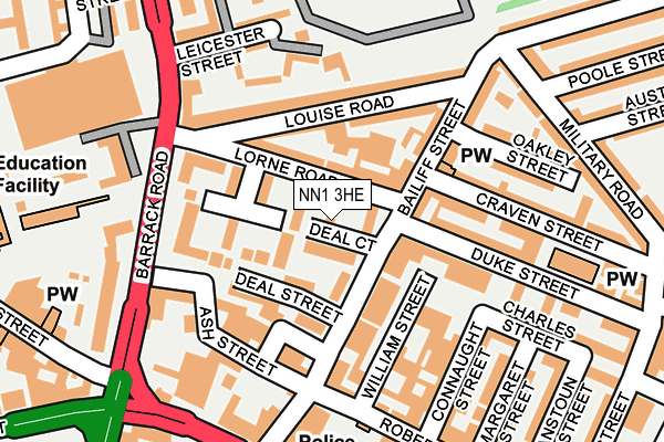 NN1 3HE map - OS OpenMap – Local (Ordnance Survey)
