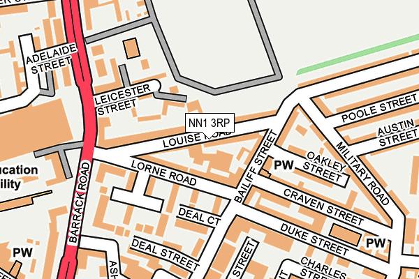 NN1 3RP map - OS OpenMap – Local (Ordnance Survey)