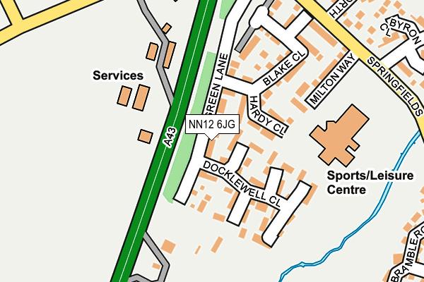NN12 6JG map - OS OpenMap – Local (Ordnance Survey)
