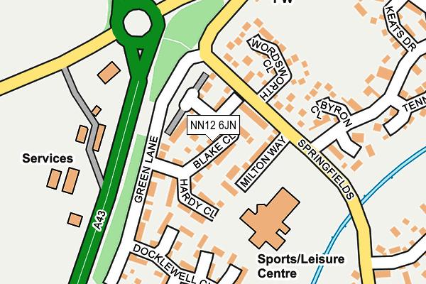 NN12 6JN map - OS OpenMap – Local (Ordnance Survey)