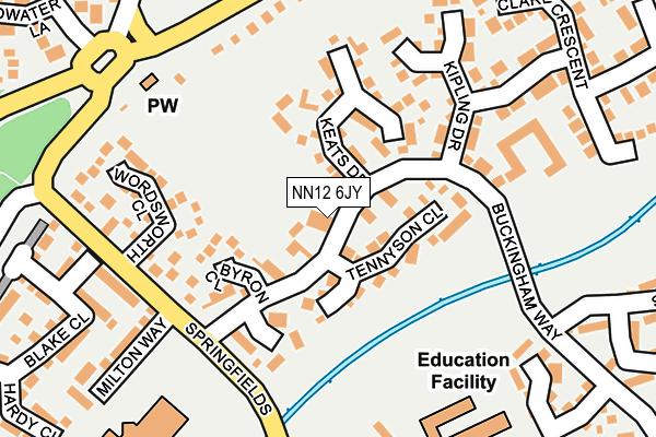 NN12 6JY map - OS OpenMap – Local (Ordnance Survey)