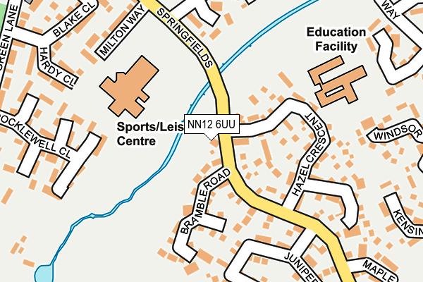 NN12 6UU map - OS OpenMap – Local (Ordnance Survey)