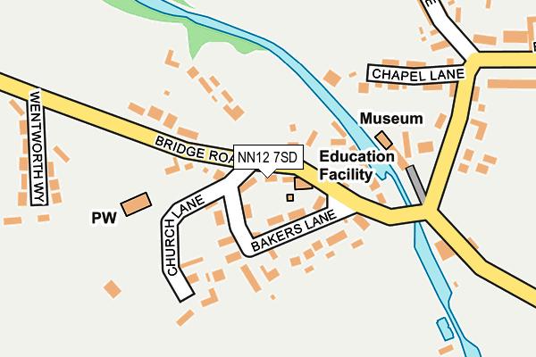 NN12 7SD map - OS OpenMap – Local (Ordnance Survey)