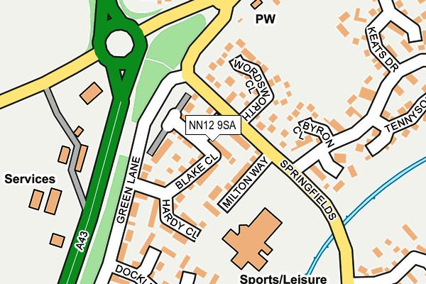 NN12 9SA map - OS OpenMap – Local (Ordnance Survey)