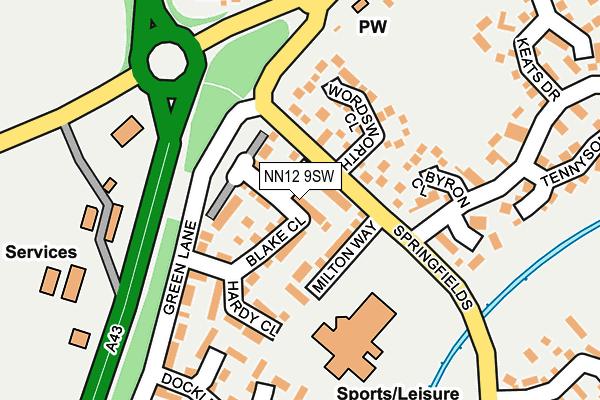 NN12 9SW map - OS OpenMap – Local (Ordnance Survey)