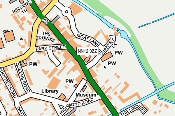 NN12 9ZZ map - OS OpenMap – Local (Ordnance Survey)