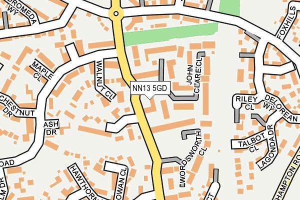 NN13 5GD map - OS OpenMap – Local (Ordnance Survey)