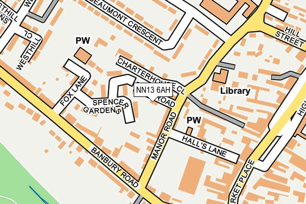 NN13 6AH map - OS OpenMap – Local (Ordnance Survey)