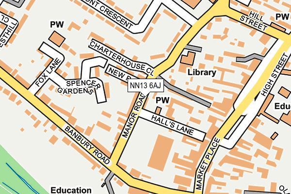 NN13 6AJ map - OS OpenMap – Local (Ordnance Survey)