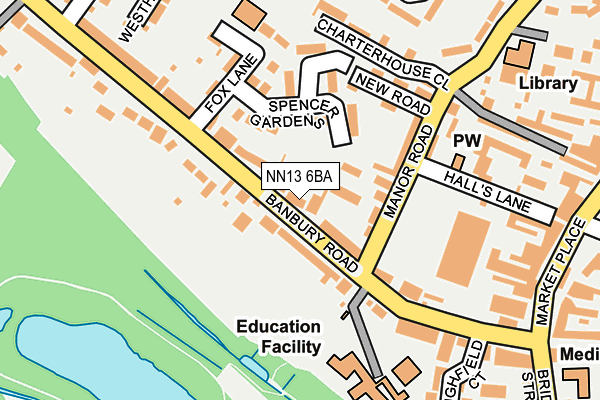 NN13 6BA map - OS OpenMap – Local (Ordnance Survey)
