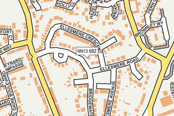 NN13 6BZ map - OS OpenMap – Local (Ordnance Survey)