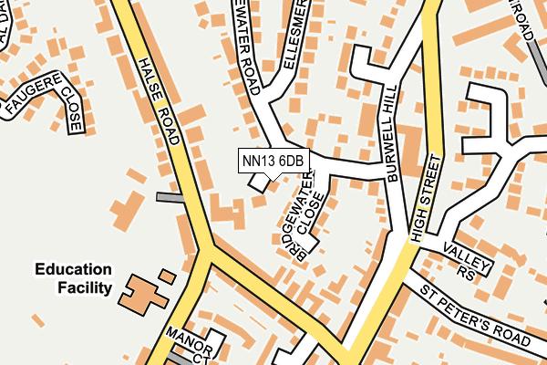 NN13 6DB map - OS OpenMap – Local (Ordnance Survey)