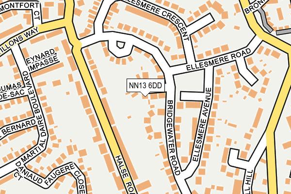 NN13 6DD map - OS OpenMap – Local (Ordnance Survey)