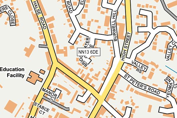 NN13 6DE map - OS OpenMap – Local (Ordnance Survey)