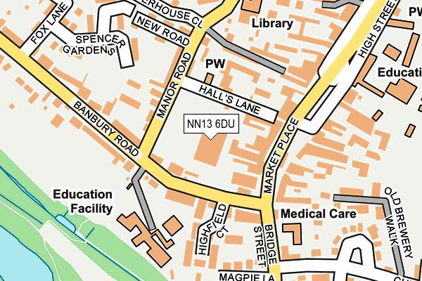 NN13 6DU map - OS OpenMap – Local (Ordnance Survey)