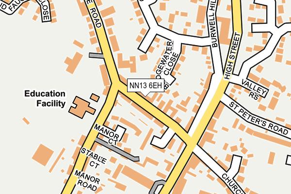 NN13 6EH map - OS OpenMap – Local (Ordnance Survey)