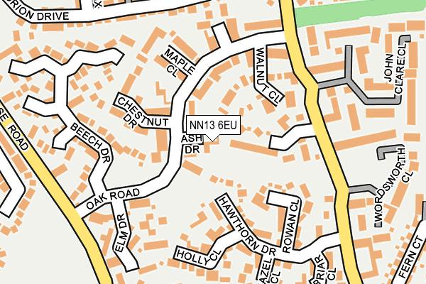 NN13 6EU map - OS OpenMap – Local (Ordnance Survey)