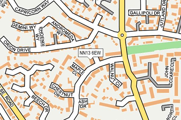 NN13 6EW map - OS OpenMap – Local (Ordnance Survey)