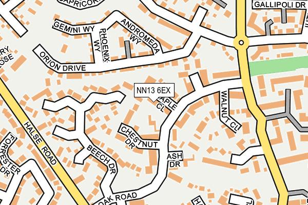 NN13 6EX map - OS OpenMap – Local (Ordnance Survey)