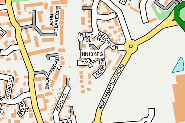 NN13 6FG map - OS OpenMap – Local (Ordnance Survey)
