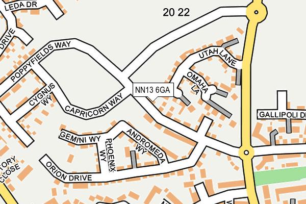 NN13 6GA map - OS OpenMap – Local (Ordnance Survey)