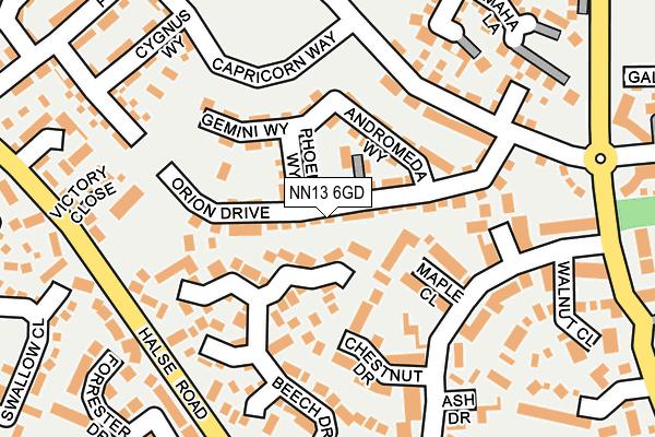 NN13 6GD map - OS OpenMap – Local (Ordnance Survey)