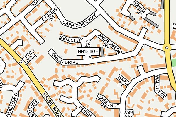 NN13 6GE map - OS OpenMap – Local (Ordnance Survey)