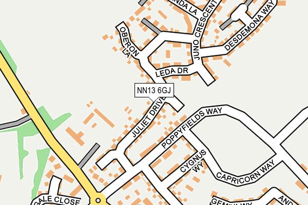 NN13 6GJ map - OS OpenMap – Local (Ordnance Survey)
