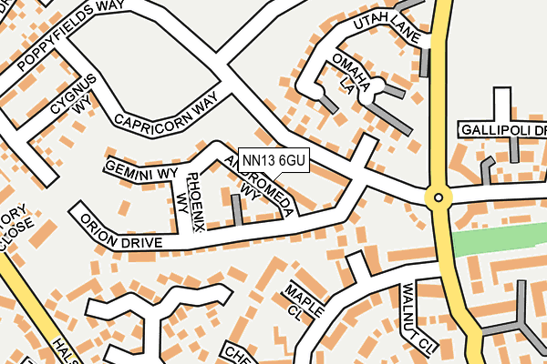 NN13 6GU map - OS OpenMap – Local (Ordnance Survey)