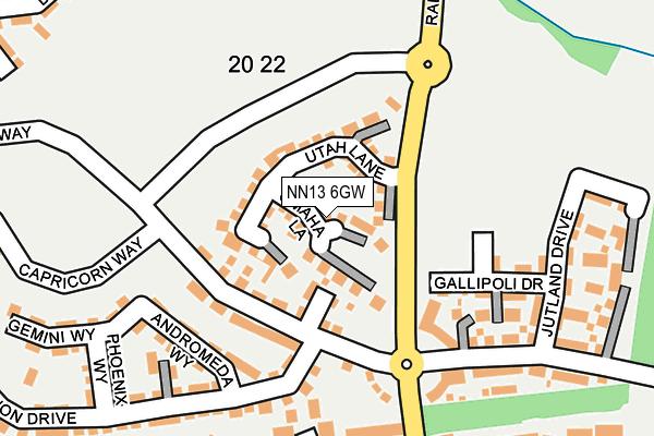 NN13 6GW map - OS OpenMap – Local (Ordnance Survey)