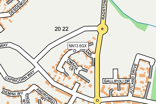 NN13 6GX map - OS OpenMap – Local (Ordnance Survey)