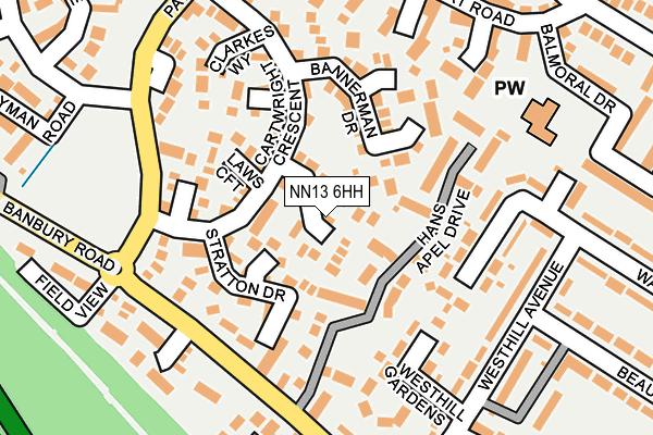 NN13 6HH map - OS OpenMap – Local (Ordnance Survey)