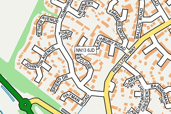 NN13 6JD map - OS OpenMap – Local (Ordnance Survey)