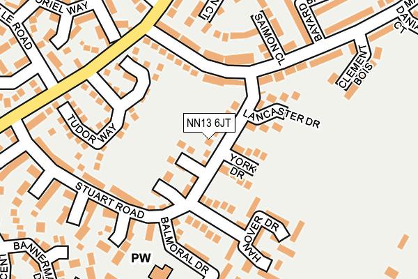 NN13 6JT map - OS OpenMap – Local (Ordnance Survey)