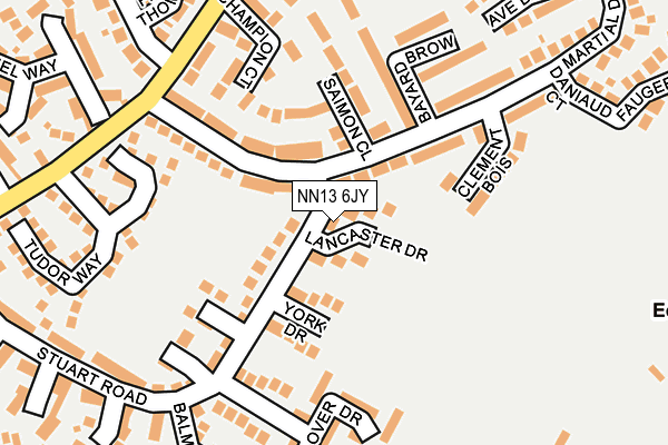 NN13 6JY map - OS OpenMap – Local (Ordnance Survey)