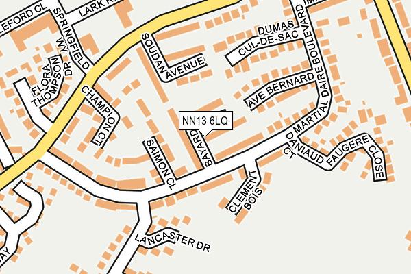 NN13 6LQ map - OS OpenMap – Local (Ordnance Survey)