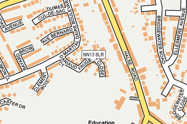 NN13 6LR map - OS OpenMap – Local (Ordnance Survey)