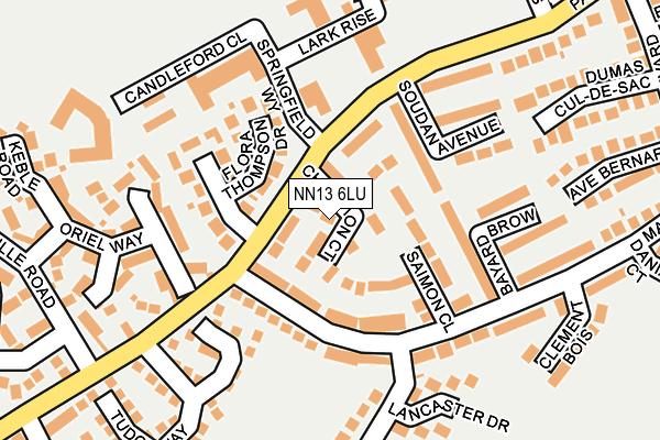 NN13 6LU map - OS OpenMap – Local (Ordnance Survey)