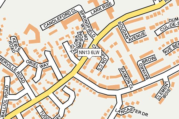 NN13 6LW map - OS OpenMap – Local (Ordnance Survey)