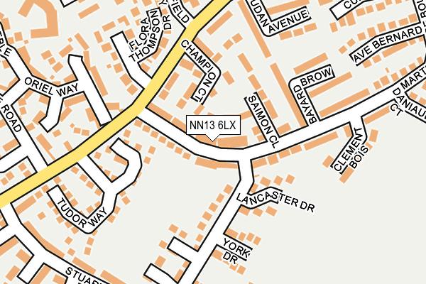 NN13 6LX map - OS OpenMap – Local (Ordnance Survey)