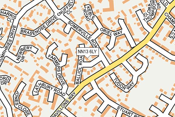 NN13 6LY map - OS OpenMap – Local (Ordnance Survey)