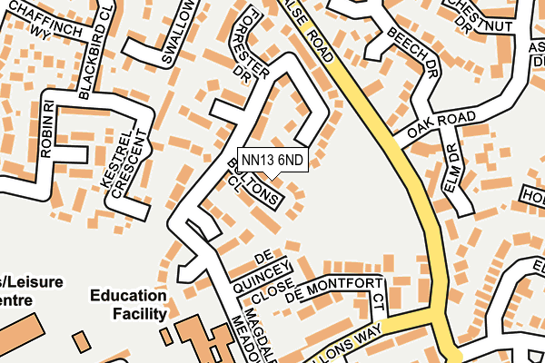 NN13 6ND map - OS OpenMap – Local (Ordnance Survey)