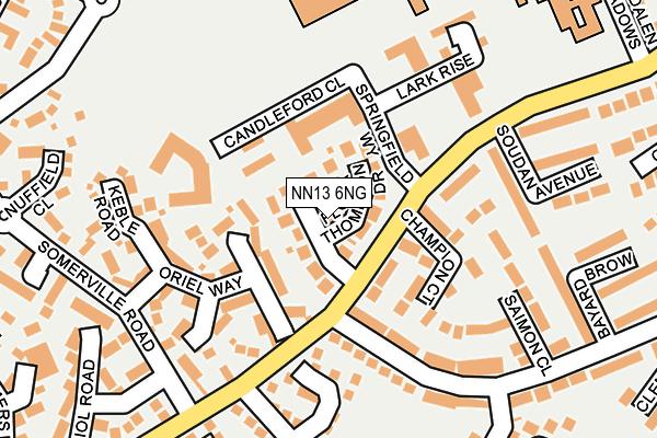 NN13 6NG map - OS OpenMap – Local (Ordnance Survey)