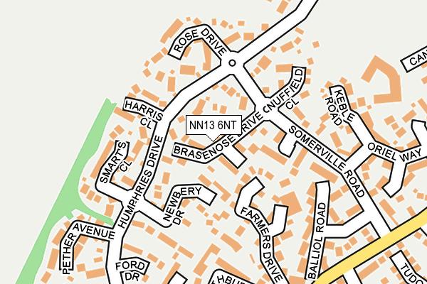 NN13 6NT map - OS OpenMap – Local (Ordnance Survey)